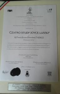 Motivazione del 12° Premio Renato Benedetto Fabrizi conferito al Centro Studi Joyce Lussu